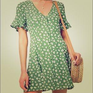 Forever21 Green Flowered Sundress
